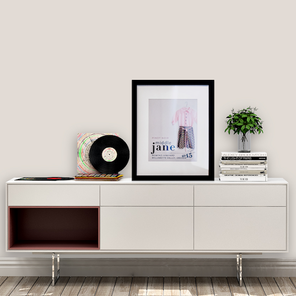 Middle Jane Pinot Noir Framed Art